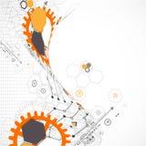 Abstrakter technologischer Hintergrund Stockfotos