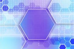 Abstrakter technologischer Hintergrund, der aus einem Satz des Hexagons besteht Stockfotos