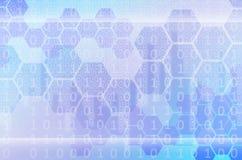 Abstrakter technologischer Hintergrund, der aus einem Satz des Hexagons besteht Lizenzfreie Stockbilder