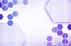 Abstrakter technologischer Hintergrund, der aus einem Satz des Hexagons besteht Lizenzfreie Stockfotos