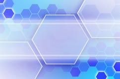 Abstrakter technologischer Hintergrund, der aus einem Satz des Hexagons besteht Lizenzfreie Stockfotografie