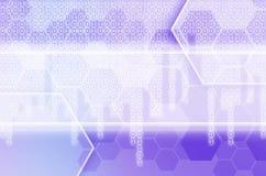 Abstrakter technologischer Hintergrund, der aus einem Satz des Hexagons besteht Lizenzfreies Stockfoto