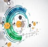 Abstrakter technologischer Hintergrund mit verschiedenen Elementen Lizenzfreie Stockfotografie