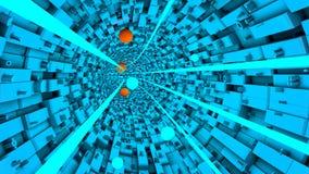 Abstrakter technologischer Tunnel Stockfotografie