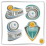 Abstrakter Tischtennisball Logo des Vektors Stockbilder