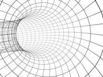 abstrakter Tunnel 3d von einem Rasterfeld Lizenzfreies Stockfoto