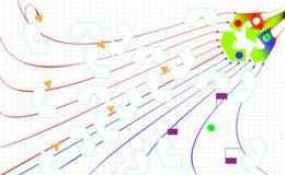 Abstrakter Umwelthintergrund Bereiten Sie eco Ikone auf Grüne Pfeile bereiten auf Flache Art für Grafik und Webdesign, Hintergrun Lizenzfreies Stockfoto