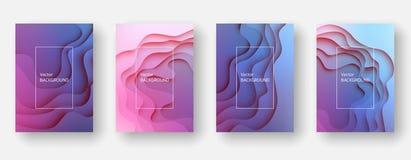 Abstrakter und moderner Vektorhintergrund Papierschnitteffekt vektor abbildung