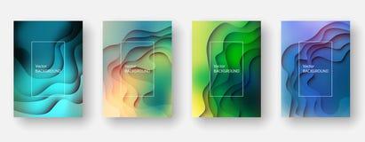 Abstrakter und moderner Vektorhintergrund Papierschnitteffekt lizenzfreie abbildung