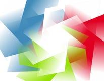 Abstrakter undurchlässiger RGB formt Hintergrund Lizenzfreie Stockfotografie