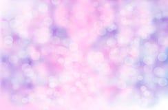 Abstrakter Unschärfehintergrund: Schönes purpurrotes Bokeh Stockfoto