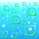 Abstrakter Unterwasserseehintergrund. Stockfotografie