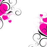Abstrakter Valentinsgruß-Hintergrund Stockbild