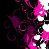 Abstrakter Valentinsgruß-Hintergrund Stockfotografie
