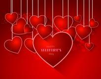 Abstrakter Valentinsgrußhintergrund mit Herzen Lizenzfreies Stockbild