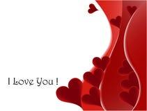 Abstrakter Valentinstaghintergrund Lizenzfreie Stockfotos