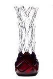 Abstrakter Vase auf weißem Hintergrund Stockfotografie