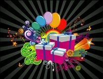 Abstrakter Vektor der Geschenke Lizenzfreies Stockfoto