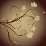 Abstrakter Vektor des Herbstes mit Blumen lizenzfreie abbildung