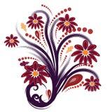 Abstrakter Vektor des Herbstes mit Blumen Lizenzfreie Stockbilder