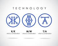 Abstrakter Vektor Logo Design Template Stockfotografie