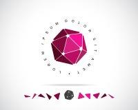 Abstrakter Vektor Logo Design Template Stockfoto