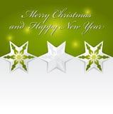 Abstrakter Vektor Weihnachtshintergrund mit Origamisternen Stockfoto
