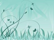 Abstrakter vektorblumenhintergrund mit Anlagen Stockfotografie
