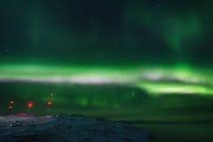 Abstrakter vektorhintergrund Aurora Borealis-Naturlandschaft Stockfoto