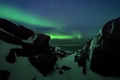 Abstrakter vektorhintergrund Aurora Borealis-Naturlandschaft Lizenzfreie Stockfotografie
