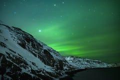 Abstrakter vektorhintergrund Aurora Borealis-Naturlandschaft Lizenzfreie Stockbilder