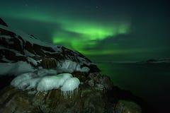 Abstrakter vektorhintergrund Aurora Borealis-Naturlandschaft Stockbild