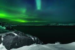 Abstrakter vektorhintergrund Aurora Borealis-Naturlandschaft Lizenzfreies Stockbild