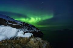 Abstrakter vektorhintergrund Aurora Borealis-Naturlandschaft Lizenzfreie Stockfotos