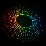 abstrakter vektorhintergrund der bunten Punkt-3D lizenzfreie stockfotografie
