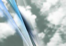 Abstrakter Vektorhintergrund des bewölkten Himmels Stockbilder