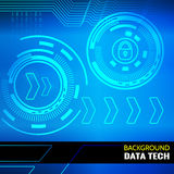 Abstrakter Vektorhintergrund für Datenthema lizenzfreie stockfotos