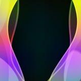 Abstrakter vektorhintergrund Flüssige Farblinien Stockbild