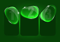 Abstrakter Vektorhintergrund mit drei Glaswahlen Stockbilder