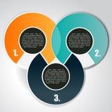 Abstrakter Vektorhintergrund mit drei Niveaus Lizenzfreies Stockbild