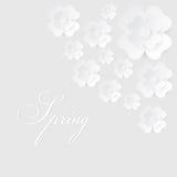 Abstrakter Vektorhintergrund mit Papierblumen Stockfoto