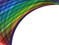 Abstrakter vektorhintergrund mit Regenbogenwellen Stockbilder
