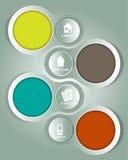 Abstrakter Vektorhintergrund mit vier Firmenaufklebern Lizenzfreie Stockbilder