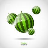 Abstrakter vektorhintergrund mit Wassermelonen Stockfotos