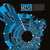 Abstrakter Vektorhintergrund, moderne Arttechnologie Lizenzfreies Stockfoto