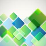 Abstrakter Vektorhintergrund von verschiedenen Farbquadraten lizenzfreie abbildung