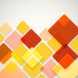 Abstrakter Vektorhintergrund von verschiedenen Farbquadraten stock abbildung