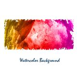 Abstrakter Vektorillustrations-Aquarellhintergrund Bunte Elemente Lizenzfreies Stockfoto