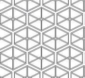 Abstrakter vektornahtlose Beschaffenheit - Parallelepipeds Lizenzfreies Stockbild
