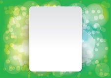Abstrakter Vektorplan, bokeh grüner Hintergrund Stockbilder